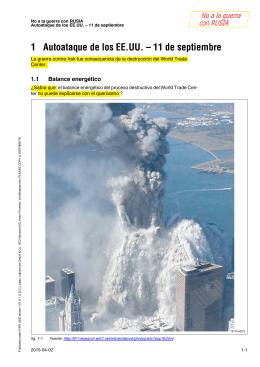 1 Autoataque de los EE.UU. – 11 de septiembre