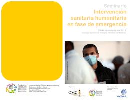 Seminario Intervención sanitaria humanitaria en fase de emergencia