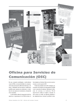 Oficina para Servicios de Comunicación (OSC)