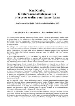 Ken Knabb, la Internacional Situacionista y la contracultura