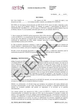 EL TITULAR O TITULARES RENTA 4, S.V., S.A.