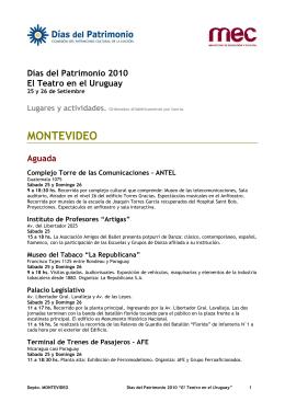 actividades programadas para Montevideo