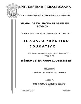 UNIVERSIDAD VERACRUZANA - Enfermagem Veterinária