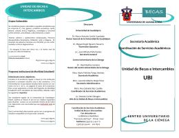 Unidad de Becas e Intercambios - Centro Universitario de la Ciénega