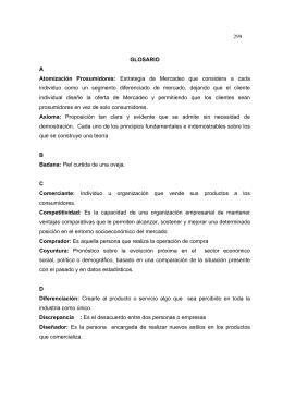 299 GLOSARIO A Atomización Prosumidores