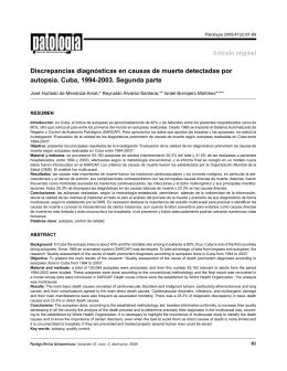 Discrepancias diagnósticas en causas de muerte detectadas por