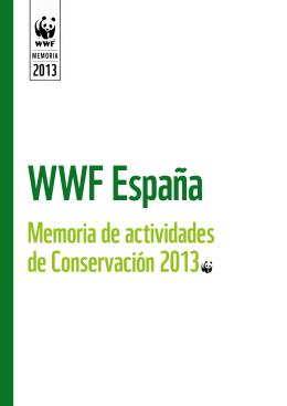 Memoria de actividades de Conservación 2013~
