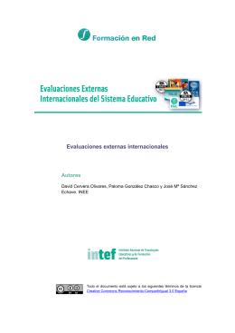 Evaluaciones Internacionales del Sistema Educativo