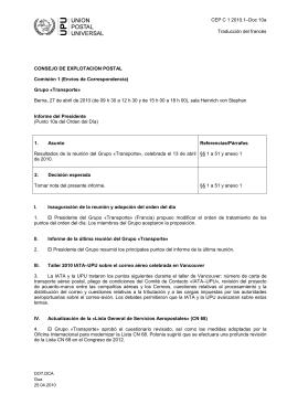 CEP C 1 2010.1–Doc 10a Traducción del francés CONSEJO DE