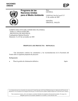 S4737 - Multilateral Fund for the Implementation of the Montreal