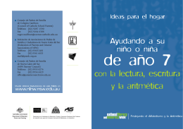 Year7 brochure (Spanish)