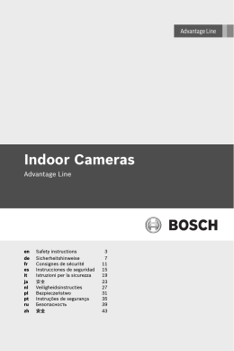 Safety instructions - Bosch Security Systems