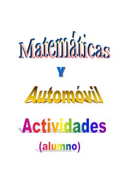 Matemáticas y Automóvil - Recursos Enseñanza Ciencias