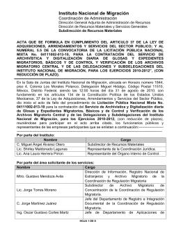 Fallo - Instituto Nacional de Migración