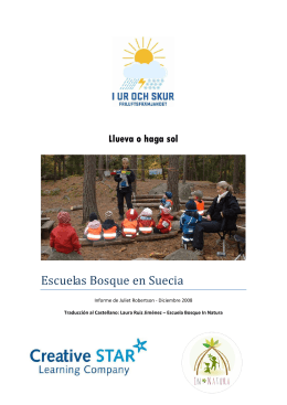 I Ur och Skur - Escuela In Natura