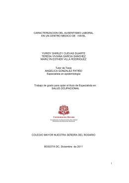 CARACTERIZACION DEL AUSENTISMO LABORAL