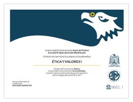 Ética y Valores I - Escuela Preparatoria de Matehuala