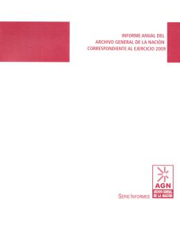 Informe 2009 - Archivo General de la Nación