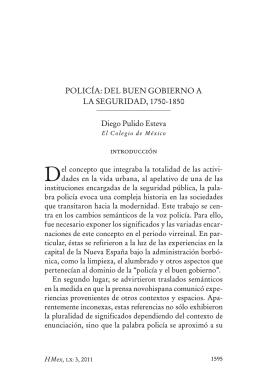 PoliCÍA: dEl BUEN goBiERNo A lA SEgURidAd, 1750-1850