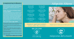 Bmer Brochure 3-2013.indd - Adoptions From The Heart
