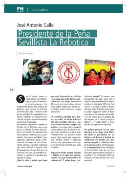 Presidente de la Peña Sevillista La Rebotica