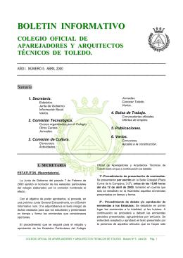 Nº 5 abril 2000 - Colegio Oficial de Aparejadores, Arquitectos