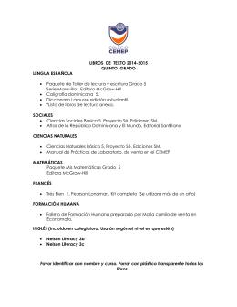 LIBROS DE TEXTO 2014-2015 QUINTO GRADO