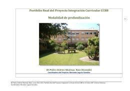 Portfolio final del Proyecto Integración Curricular