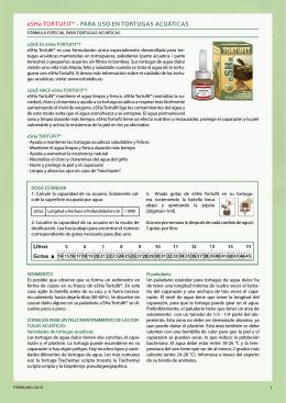eSHa TorTufiT® - Para uSo en TorTugaS acuáTicaS