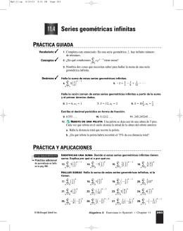 11.4 Series geométricas infinitas