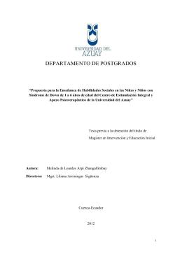 DEPARTAMENTO DE POSTGRADOS