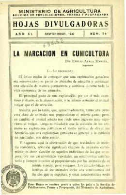 26/1947 - Ministerio de Agricultura, Alimentación y Medio Ambiente