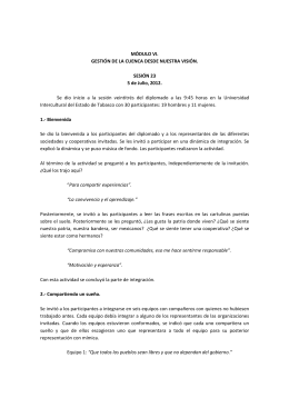 Módulo 6, Sesiones 23 y 24 - Cuenca Grijalva