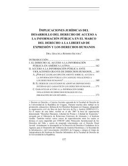 implicaciones jurídicas del desarrollo del derecho de acceso a la