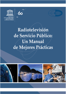 Radiotelevisión de servicio público: un manual - unesdoc