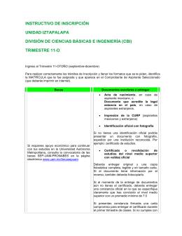 trimestre 11-o - Universidad Autónoma Metropolitana