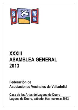 Documento Asamblea 2013 - Federación de Asociaciones