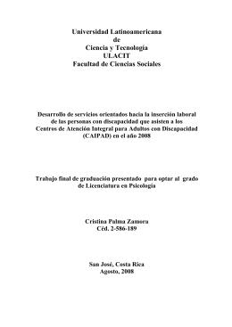 Universidad Latinoamericana de Ciencia y Tecnología ULACIT