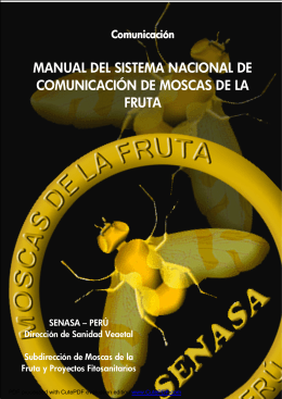 manual del sistema nacional de comunicación de moscas