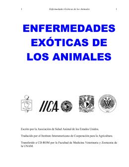 Enfermedades Exoticas de los Animales - FMVZ-UNAM