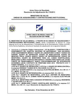 179/2013 - Ministerio de Salud