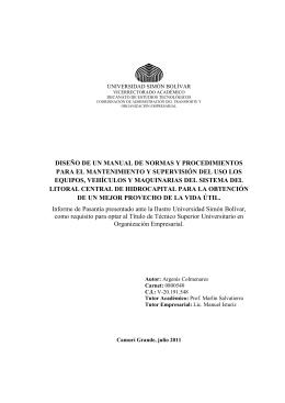 diseño de un manual de normas y procedimientos para el