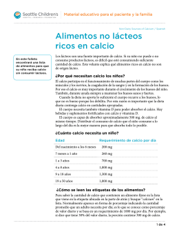 PE314S Non-Dairy Sources of Calcium - Spanish