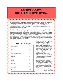 Introducción Bosnia y Herzegovina