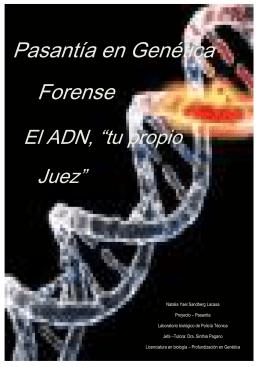 Pasantía en Genética Forense - Biblioteca de la Facultad de Ciencias