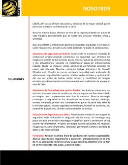 NOSOTROS - Soluciones para la seguridad de la información