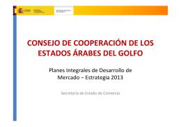CONSEJO DE COOPERACIÓN DE LOS ESTADOS ÁRABES DEL