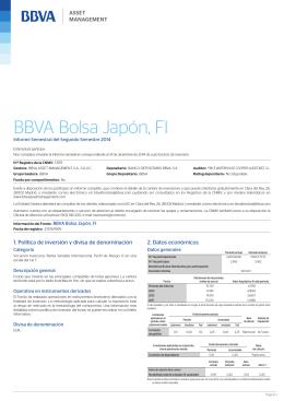 Informe semestral - BBVA Asset Management