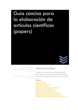 Guía concisa para la elaboración de artículos científicos (papers)