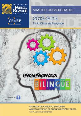 BILINGÜE 12 PARTES.indd - Universidad Pablo de Olavide